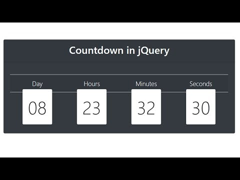 How to Make Countdown Timer in JQuery thumbnail