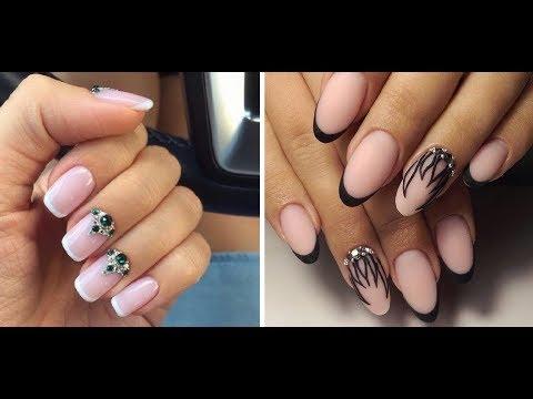 Красивый френч дизайн ногтей