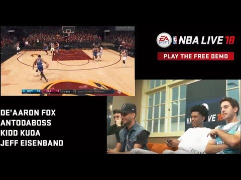 De'Aaron Fox plays NBA Live 18 with AntoDaBoss