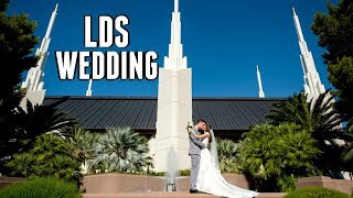 MY LDS WEDDING WITH NON LDS FAMILY / MODEST WEDDING DRESS