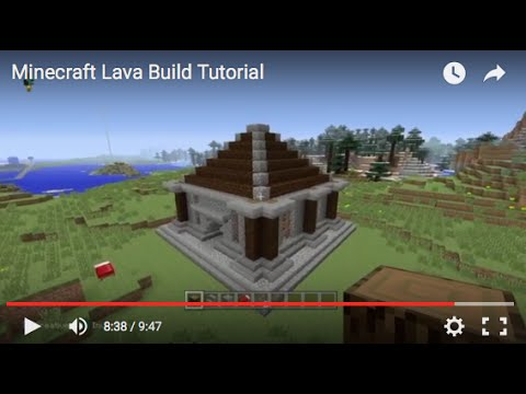 PS4 / XBOX Minecraft EASY Lava House Build Tutorial - Minecraft Build Ideas - YouTube