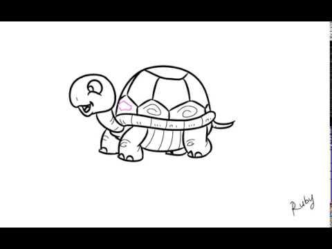 Cara Menggambar Kura Kura How To Draw A Turtle Youtube