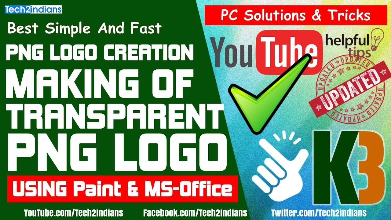 Make Transparent PNG LOGO | Using PAINT/MS-Office | One Minute ...