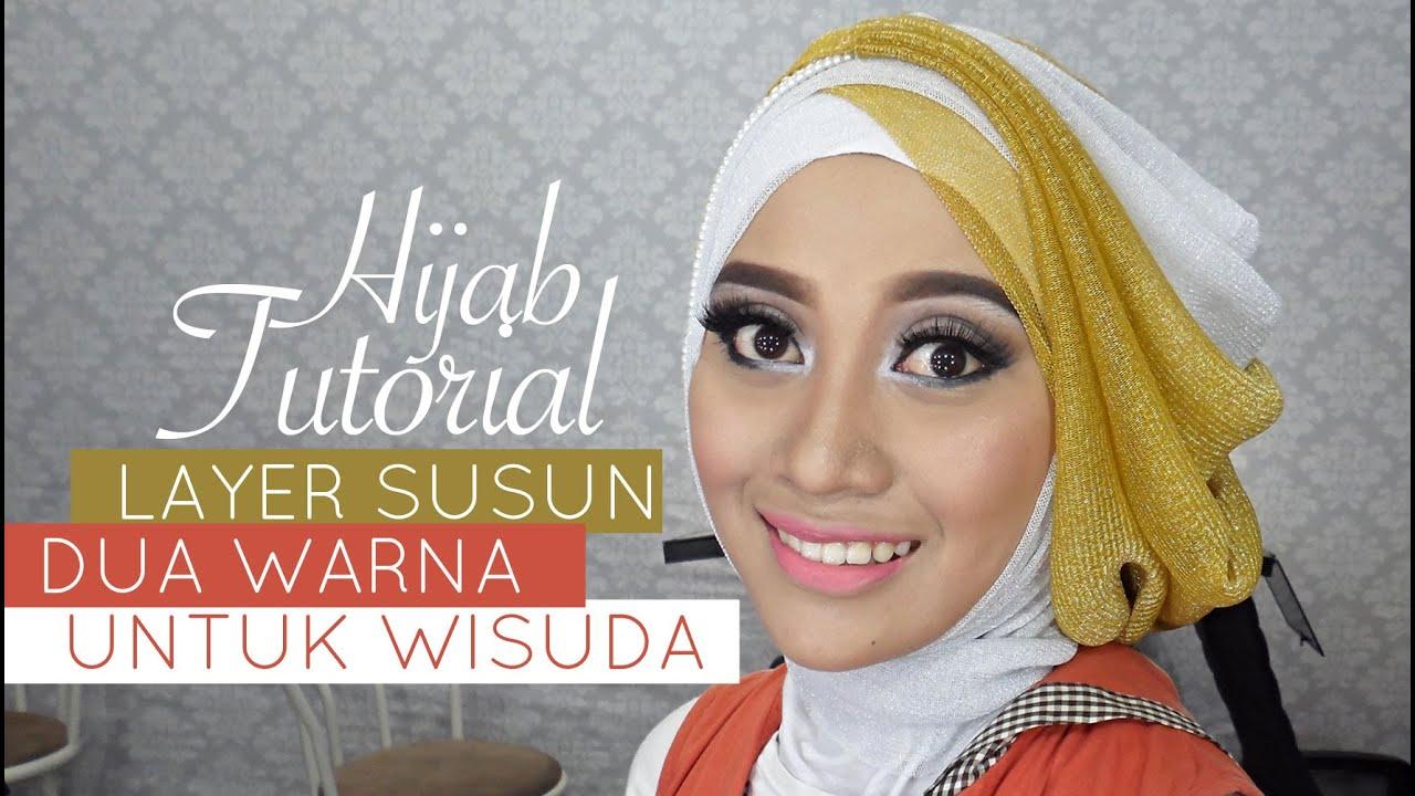 Tutorial Hijab Pesta Atau Wisuda Style Hijab Layer 2 Warna 1