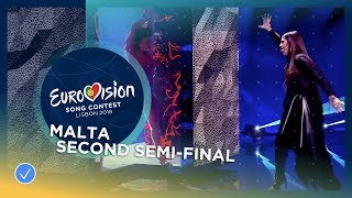 Video Christabelle - Taboo - Malta - LIVE - Second Semi-Final - Eurovision 2018 download MP3, 3GP, MP4, WEBM, AVI, FLV September 2018