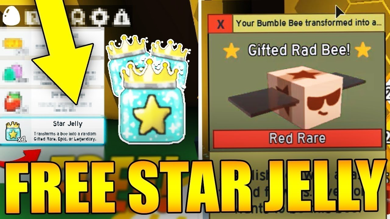 Event How To Get A Free Star Jelly Bee Swarm Simulator Roblox