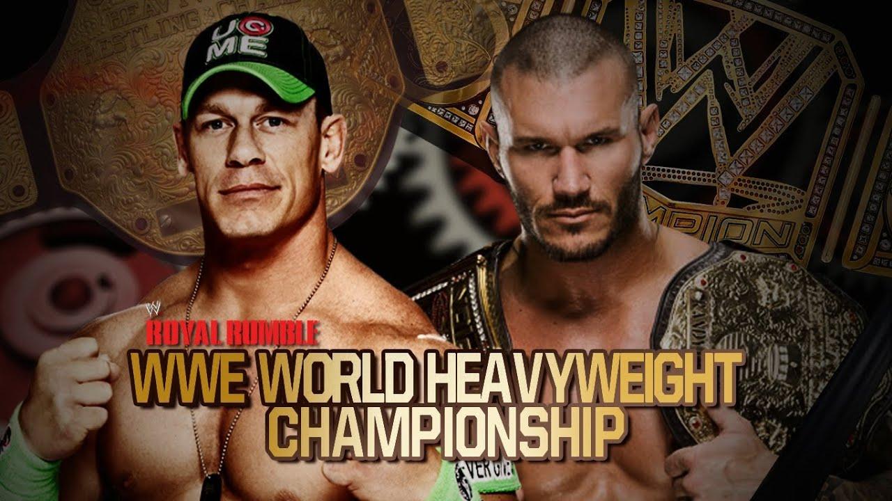 WWE Royal Rumble 2014 John Cena vs Randy Orton Unified WWE ...  WWE Royal Rumbl...
