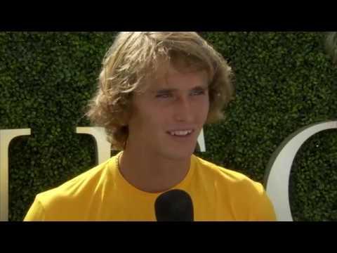 Aleander Zverev Interview at the  US Open 2017