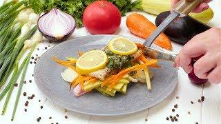 Рыба на овощной подушке - Рецепты от Со Вкусом