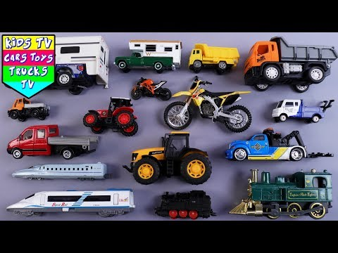Learn Big And Small Vehicles For Kids Children Babies Toddle