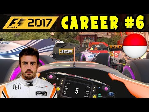 F1 2017 CAREER MODE PART 6 - MONACO GP  - McLAREN HONDA | EXCLUSIVE | INTERACTIVE LIVESTREAM