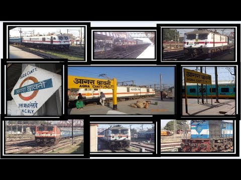 || Agra Cantt || Arrival And Departure Compilation ||