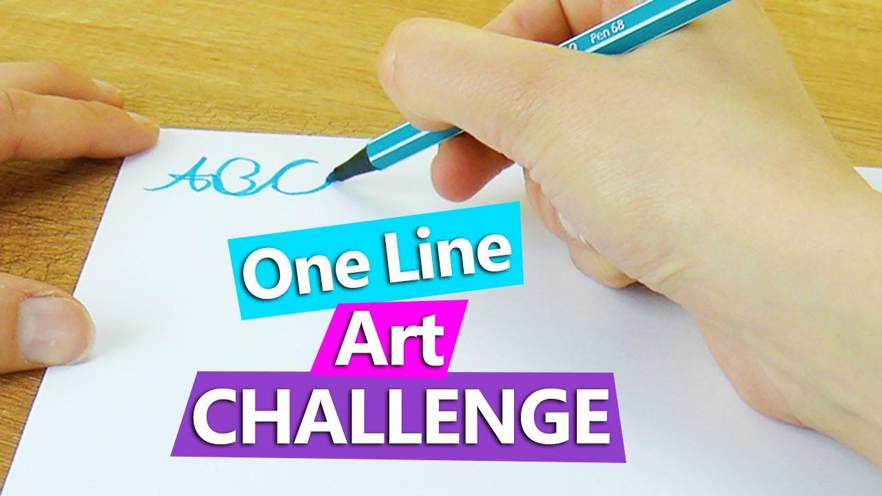 Single Line Letter Art : Alphabet schreiben ohne absetzen mit nur einer linie one