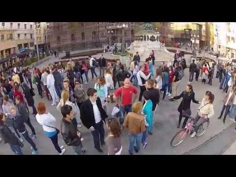 GoPro Salsa - International Rueda De Casino Multi Flash Mob; Belgrade, Serbia, March 29th 2014