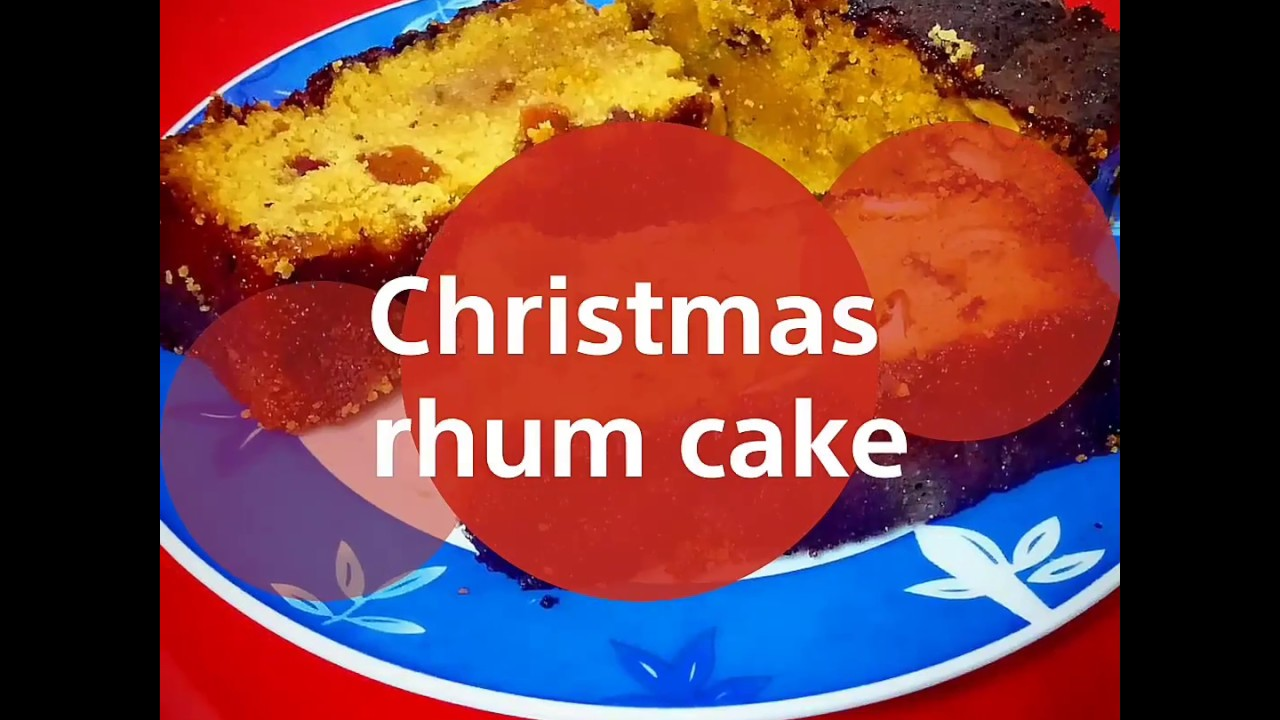 Christmas rum cake - YouTube