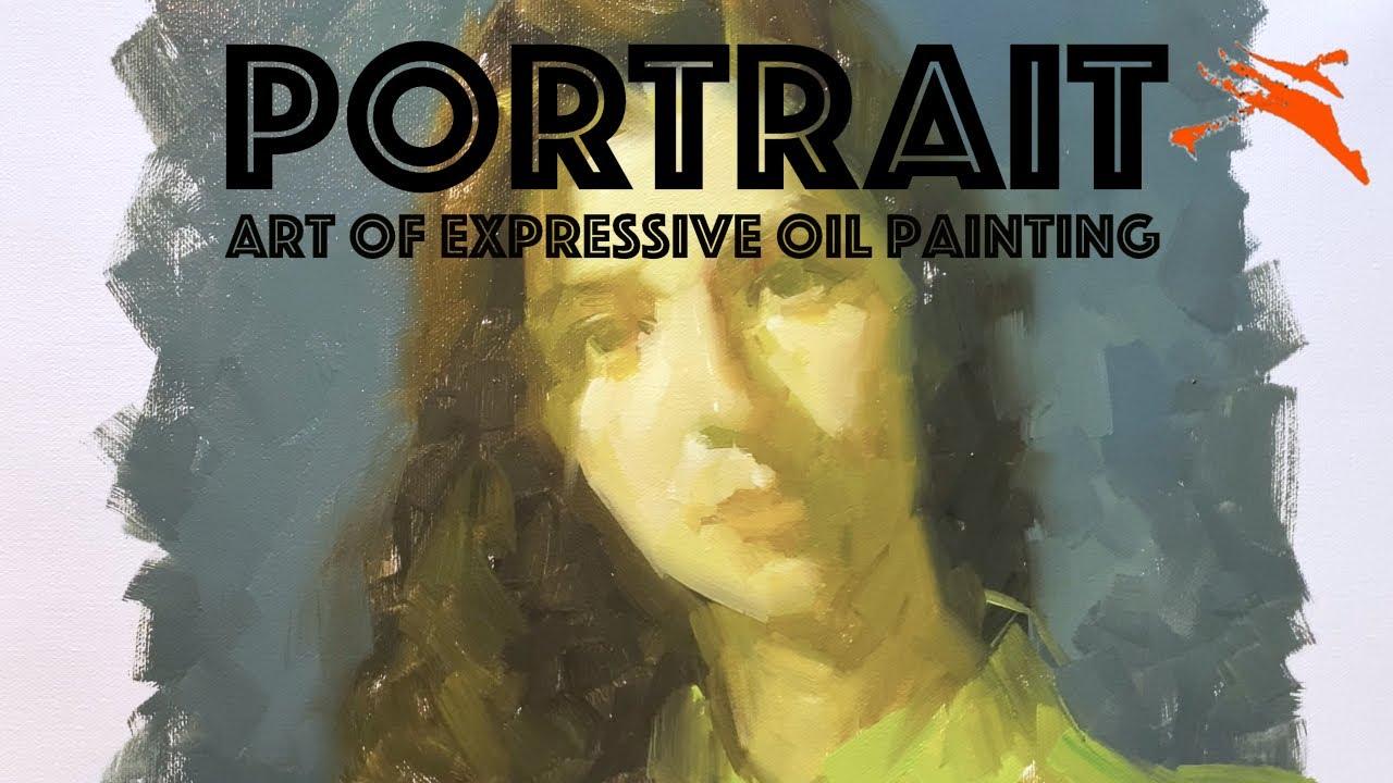 👩🎨 Oil Painting Demo: Lemon Grey Portrait.