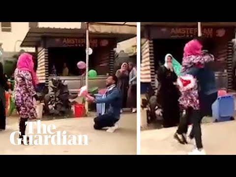 The footage that stopped Egyptian universities from expelling students over hug