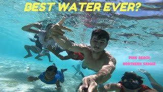 Philippines PINK BEACH With The BEST Turquoise Water! | FIGHTER BOYS Samar