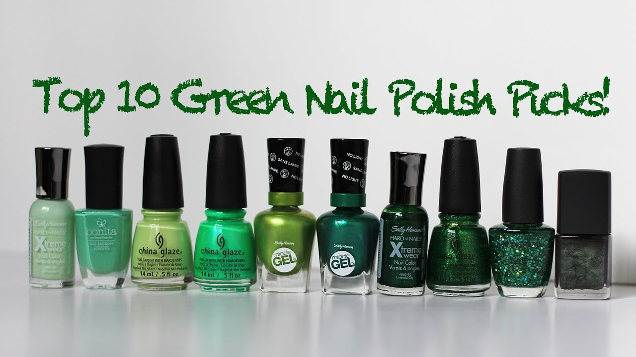 My top 10 green nail polish favorites 2015 sally hansen china my top 10 green nail polish favorites 2015 sally hansen china glaze nars more youtube nvjuhfo Gallery