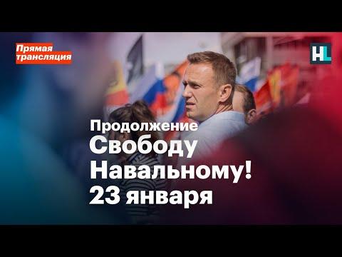 Свободу Навальному! Россия выходит 23 января. Прямая трансляция. Продолжение