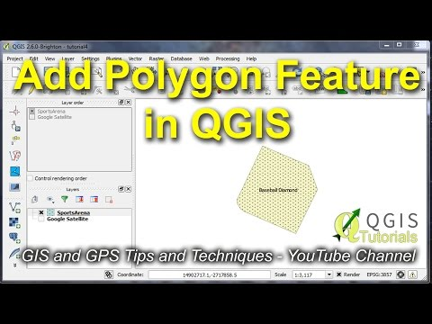 Create, modify and Label a Polygon (area) Feature in QGIS - YouTube