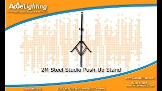 Acue Lighting 2M Push Up Stand optional wheels Product Demo