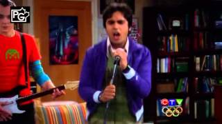 Raj singing Under The Bridge - The Big Ban Theory