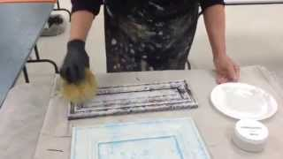 How to use a Sea Sponge to paint furniture and cabinets - Part 1