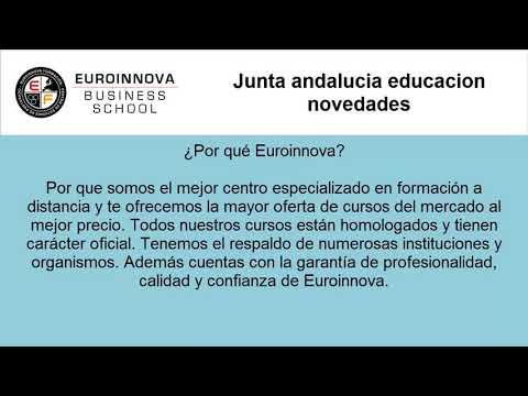 Junta De Andalucia Educacion Novedades Web Oficial