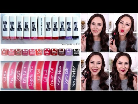 Covergirl Katy Kat Matte Lipstick | Lip Swatches & Review | Katy Perry Lipsticks