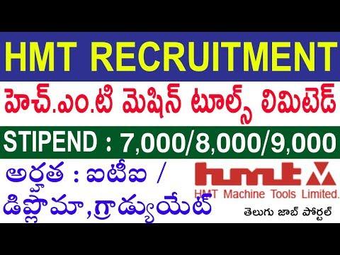HMT Machine Tools Recruitment 2020 | HMT Bangalore Apprentice 2020 | Telugu Job Portal