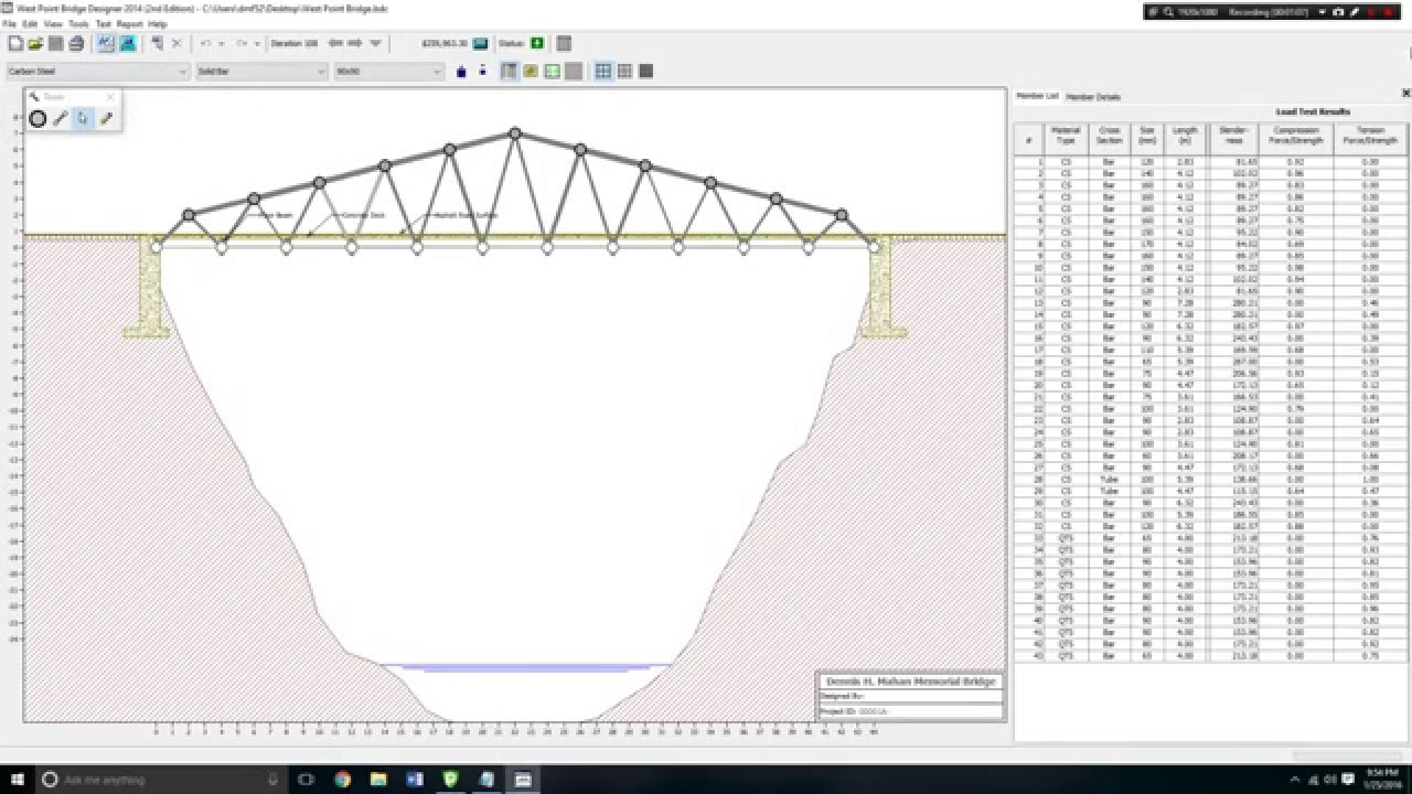 Cheapest Bridge West Point Bridge Designer 2014 2nd Edition Youtube