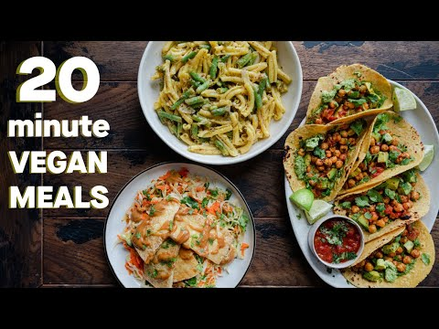 20-Minute Vegan Meals EVERYONE Should Know