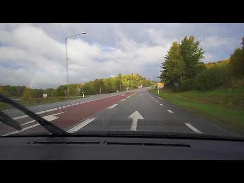 Sweden, Stockholm, driving from Haninge Centrum to bus stop Almvägen