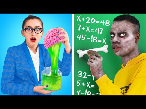Zombie At School!   DIY Zombie School Supplies