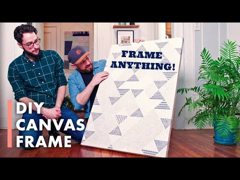 DIY Canvas Frame: Turn Anything Into Art! - HGTV Handmade