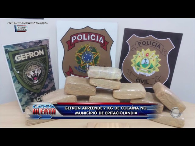 GEFRON apreende 7 kg de cocaína no município de Epitaciolândia