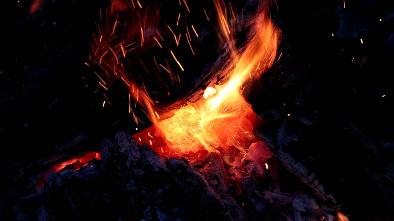 Nature Sounds: Burning Wood Fire, Crackling Wood, Relaxing ...
