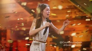 13 Year Old Singing Like a Lion Earns Howie's Golden Buzzer America's Got Talent thumbnail