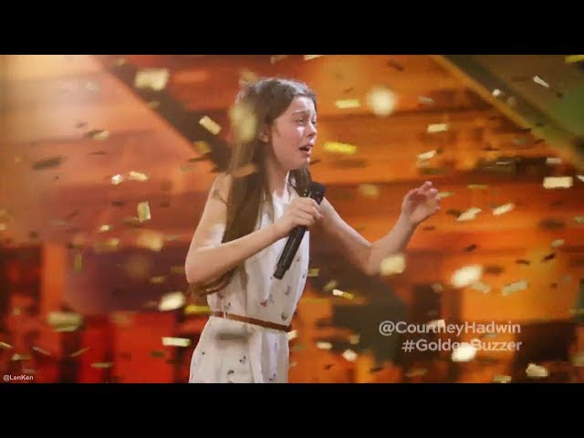 13 Year Old Singing Like a Lion Earns Howies Golden Buzzer Americas Got Talent