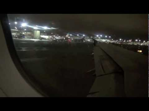 USAirways A321 Red-Eye Flight from Los Angeles to Charlotte (HD)