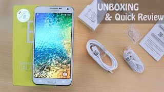 Samsung Galaxy E7 Unboxing & Quick Review!