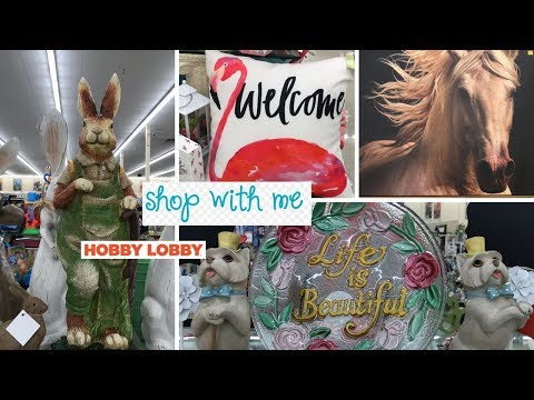 Wanna See what's new at Hobby Lobby? Shop with me today at Hobby Lobby!! New Spring/Easter Decor!!!
