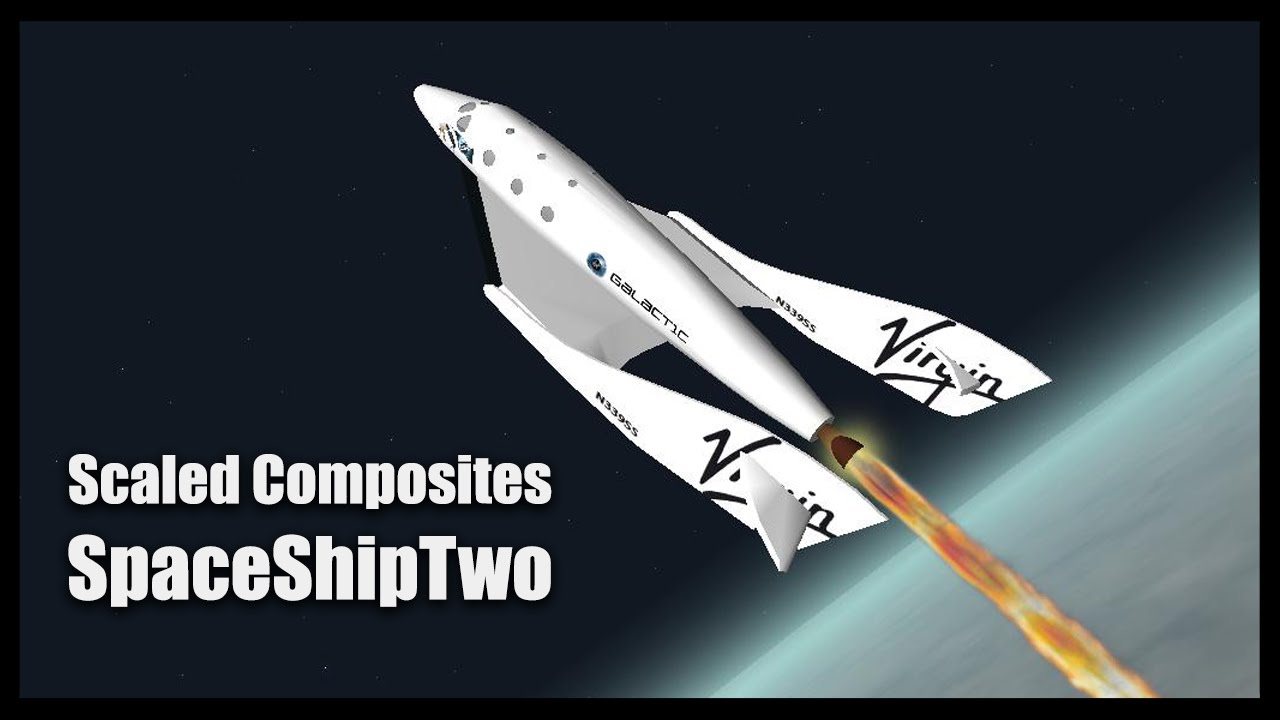 Scaled Composites SpaceShipTwo Orbiter Space Flight