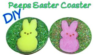 DIY Peeps Easter Coaster Another Coaster Friday Craft Klatch Easter Series