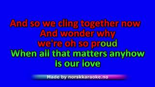 Karaoke We belive in happy endings - Heidi Hauge Leveres av Norsk Karaoke