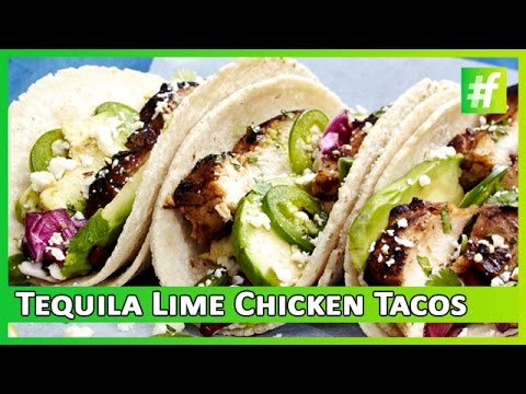 Tequila Lime Chicken Tacos Food Channel Recipe Fame Food Delicious Recipe