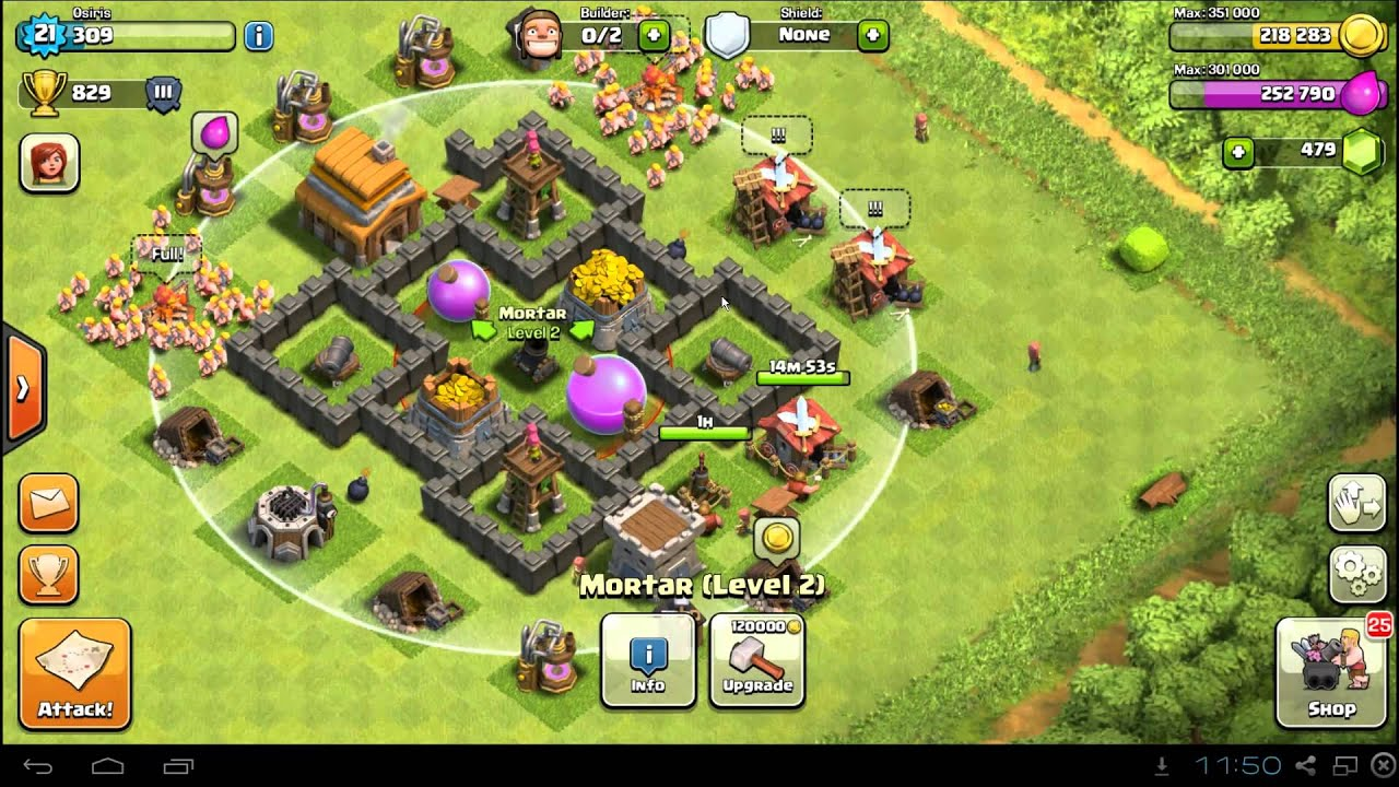 best clash of clans town hall 4 farming base layout defense setup youtube