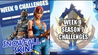Unlocking The New Fortnite Snowfall Skin!! Week 9 Season 7 Challenges