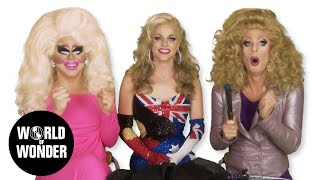 Enjoy the video? Subscribe here! http://bit.ly/1fkX0CV From season 6 of RuPaul's Drag Race, the Aussie Lass Courtney Act joins Trixie and Katya. RuPaul's ...